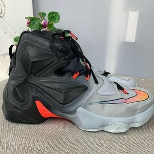 Nike LeBron 13 white orange black On Court